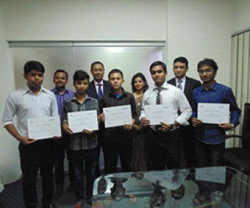 ISDI students get recognition from Bank Alfalah